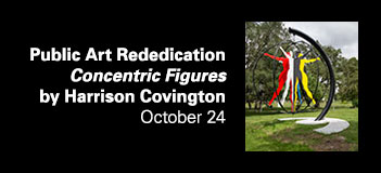 Public Art Rededication Concentric Figures by Harrison Covington Friday, October 24, 11am